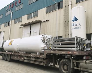 两台6m³/0.8MPa液氧低温西安亚博体育